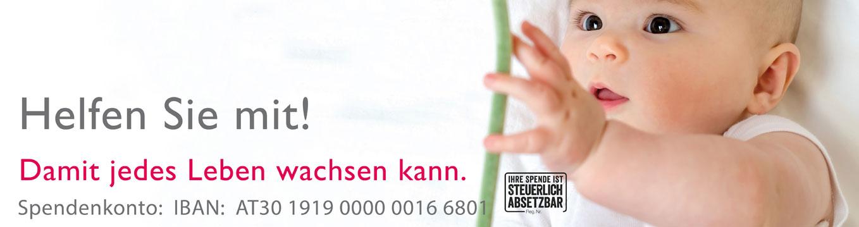 St. Elisabeth-Stiftung der Erzdiözese Wien - Ihre Spende für Schwanger und Mütter in Not